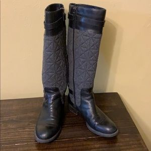 Franco Sarto Penelope Quilted Leather Fabric Boots